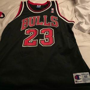 Vintage Champion Jordan Black #23 Jersey. '96